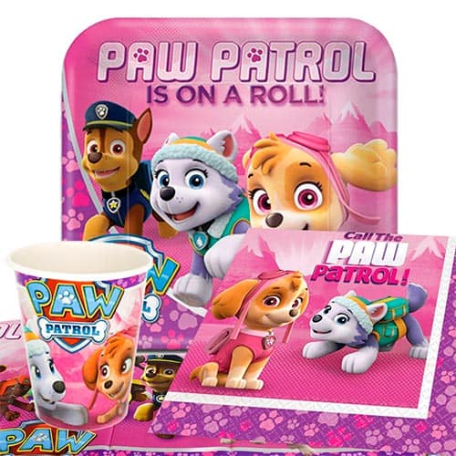 Paw Patrol Pink 8 Person Value Party Pack