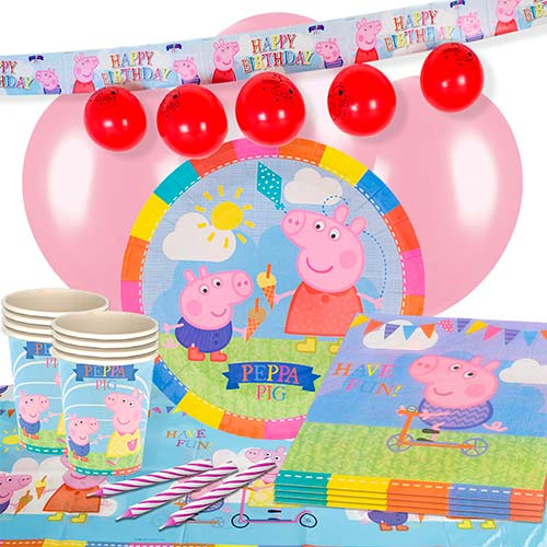 Peppa Pig Theme 16 Person Delux Party Pack