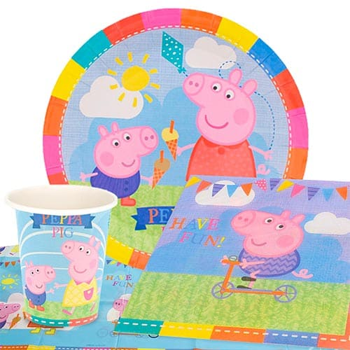 Peppa Pig Theme 8 Person Value Party Pack Partyrama