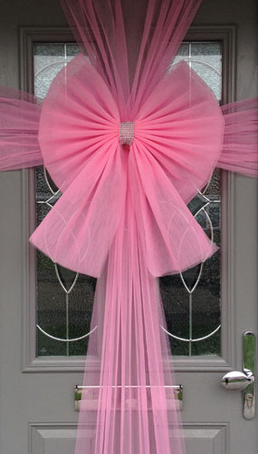 Pink Door Bow Decoration