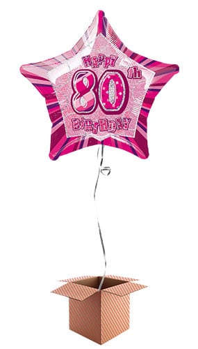 """20/"""" Pink Happy 30th Birthday Prismatic Foil Helium Balloon Party Decorations"""