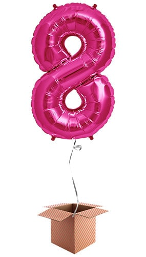 pink-number-8-supershape-86cm-foil-balloon-in-a-box-image