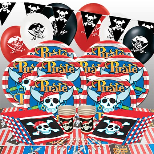 Pirate Theme 8 Person Delux Party Pack