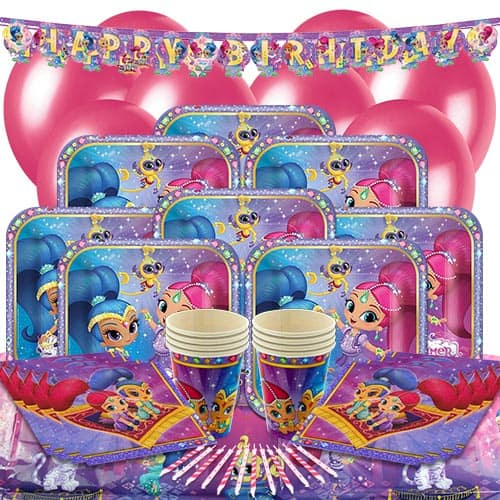 Shimmer And Shine Party Supplies 8 Person Deluxe