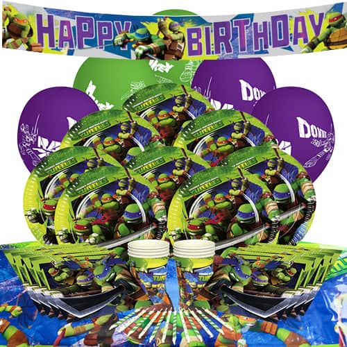 Teenage Mutant Ninja Turtles 8 Person Delux Party Pack Partyrama
