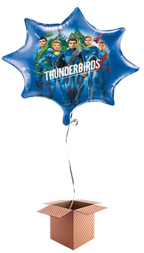 Thunderbirds Giant Foil Balloon - Inflated Balloon in a Box