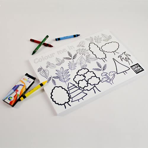 Trees Themed A4 Colouring sheet With 4 Crayons Product Image