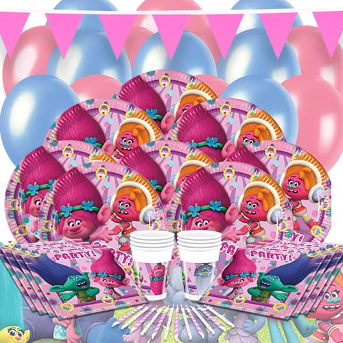 Trolls 16 Person Delux Party Pack