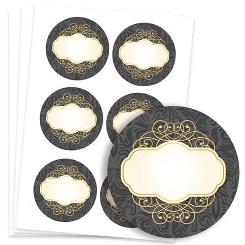 Pattern/posh Design 95mm Round Sticker sheet of 6