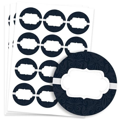 To And From Design 60mm Round Sticker sheet of 12
