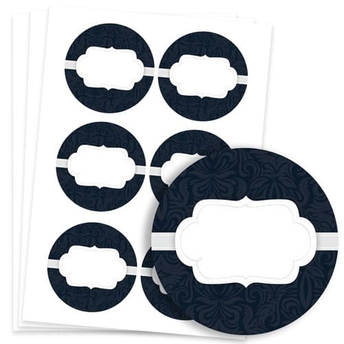 To And From Design 95mm Round Sticker sheet of 6