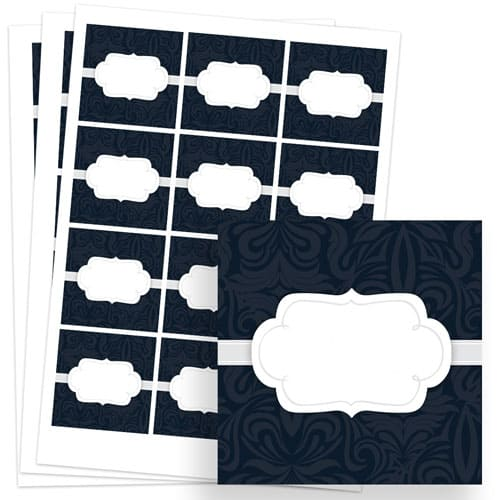 To And From Design 65mm Square Sticker sheet of 12