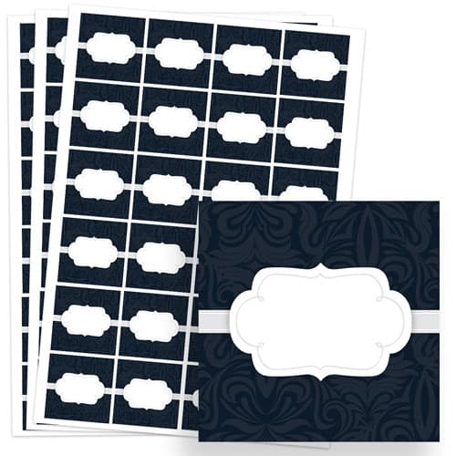 To And From Design 40mm Square Sticker sheet of 24