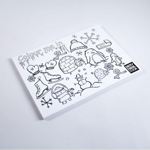 Winter Themed A4 Colouring sheet