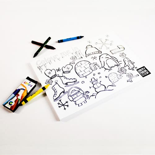 Winter Themed A4 Colouring sheet With 4 Crayon Product Image