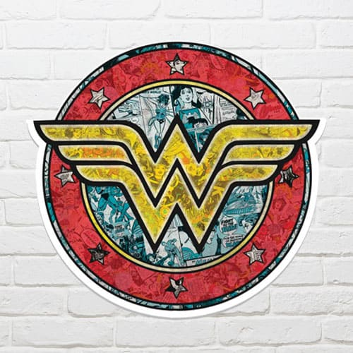 Wonder Woman Shield Wall Art 68 x 72cm Product Gallery Image