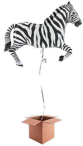 zebra-giant-supershape-109cm-foil-balloon-in-a-box-image