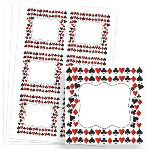 Casino Design 80mm Square Sticker sheet of 6