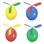 Assorted Colours Helicopter Balloon