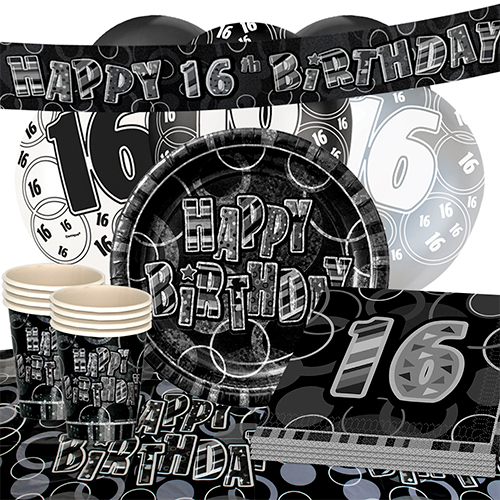 black-glitz-16th-birthday-party-supplies-16-person-deluxe-party-pack