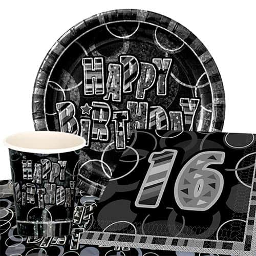 black-glitz-16th-birthday-party-supplies-8-persons-value-party-pack
