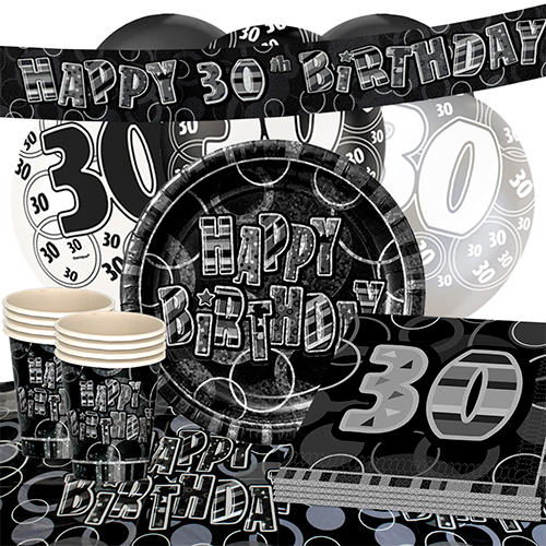 black-glitz-30th-birthday-party-supplies-16-person-deluxe-party-pack