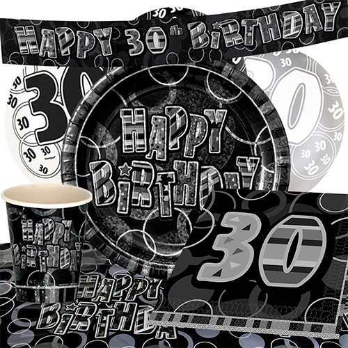 black-glitz-30th-birthday-party-supplies-8-person-deluxe-party-pack