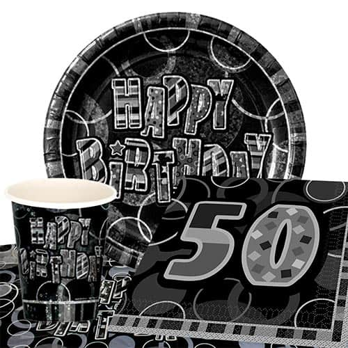 black-glitz-50th-birthday-party-supplies-8-persons-value-party-pack