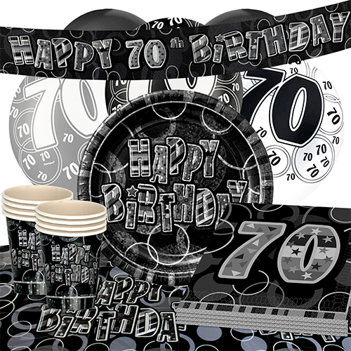 black-glitz-70th-birthday-party-supplies-16-person-deluxe-party-pack