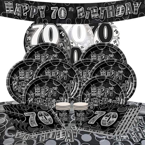 black-glitz-70th-birthday-party-supplies-8-person-delux-party-pack