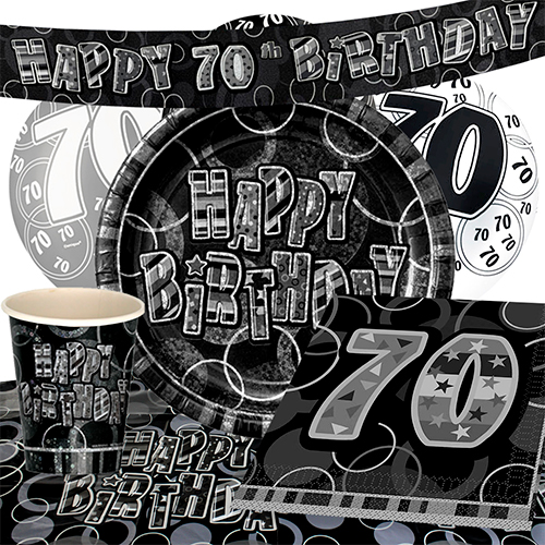 black-glitz-70th-birthday-party-supplies-8-person-deluxe-party-pack