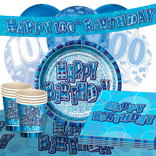 blue-glitz-100th-birthday-party-supplies-16-person-deluxe-party-pack