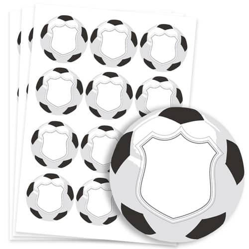 Football Design 60mm Round Sticker sheet of 12 Product Image