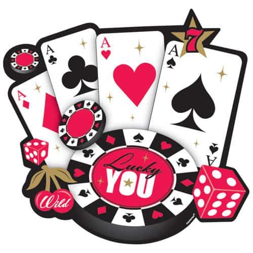 Casino Theme Cardboard Cutout Decoration