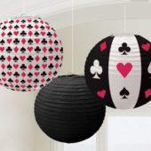 Casino Theme Paper Lanterns Pack Of 3