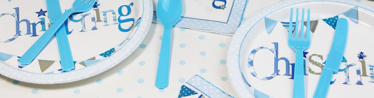 Christening Blue Party Supplies Top Image