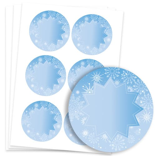 Frozen Design 95mm Round Sticker sheet of 6 Product Image