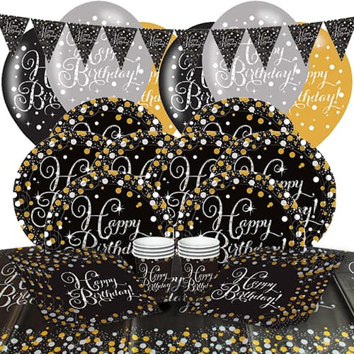 Gold Celebration 8 Person Deluxe Party Pack