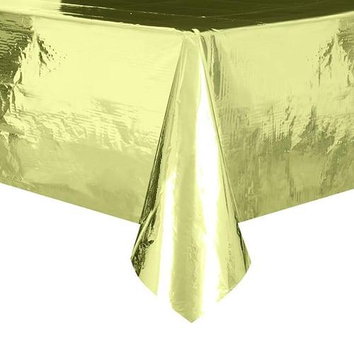 Gold Foil Tablecover 274cm x 137cm