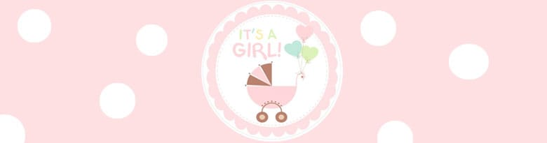 Its A Girl Clothesline Party Supplies Top Image
