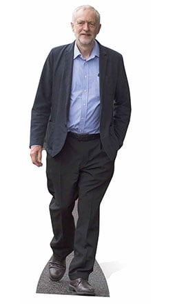 Jeremy Corbyn Lifesize Cardboard Cutout - 175cm