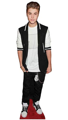 Justin Bieber Black Tracksuit Lifesize Cardboard Cutout - 171cm Product Gallery Image
