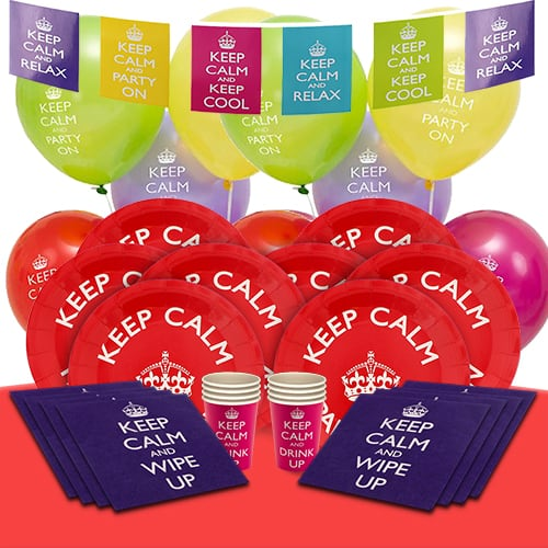 Keep Calm 8 Person Deluxe Party Pack