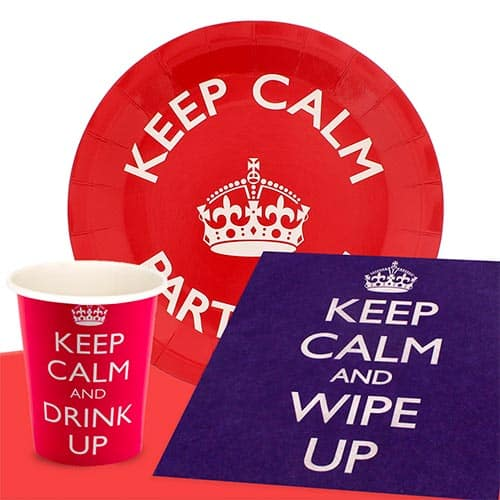 Keep Calm 8 Person Value Party Pack