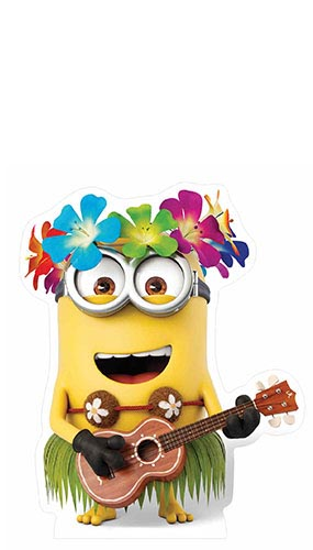 Minion Hawaiian Guitar Lifesize Cardboard Cutout - 81cm Product Gallery Image