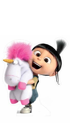 Minions Agnes With Fluffy Unicorn Lifesize Cardboard Cutout - 118cm Product Gallery Image