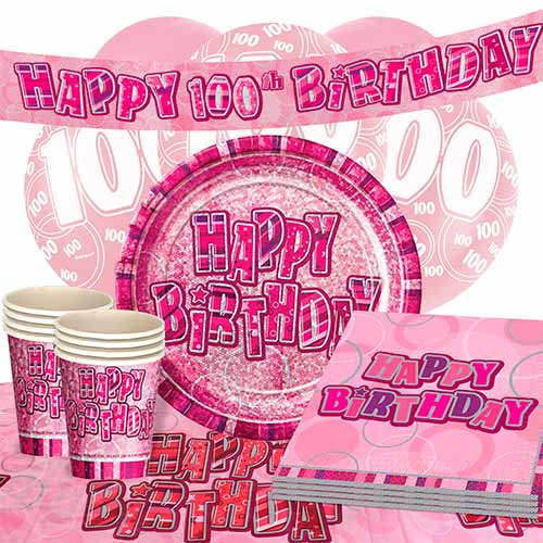 pink-glitz-100th-birthday-party-supplies-16-person-deluxe-party-pack