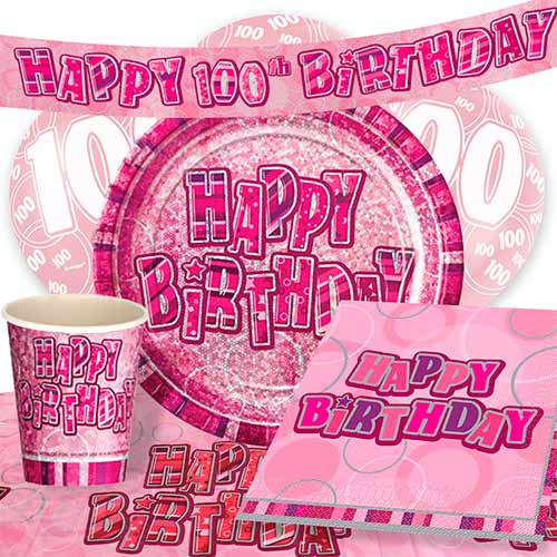 pink-glitz-100th-birthday-party-supplies-8-person-deluxe-party-pack