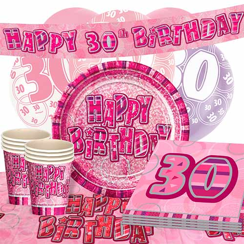 pink-glitz-30th-birthday-party-supplies-16-person-deluxe-party-pack