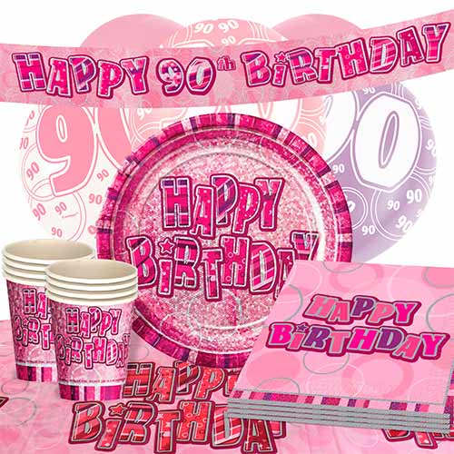 pink-glitz-90th-birthday-party-supplies-16-person-deluxe-party-pack